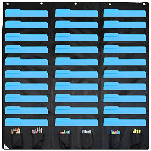 Compono 30 Pocket Storage Pocket Chart And Hanging Wall