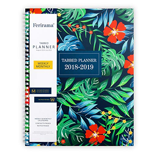 monthly daily academic planner 8 5 x 11 aug 2018 july 2019