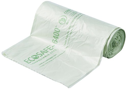 6400 hb2432 6 compostable bag certified compostable 13 gallon green pack of