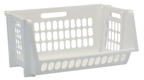 Organize Your Home, Garage Or Office With This Set Of 3 Perforated Medium  Stacking Bin From ...