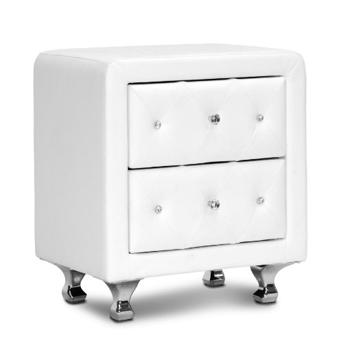 Ac Pacific White Crystal Tufted Storage Bench Officelle