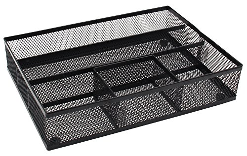 Easypag Mesh Collection Desk Drawer Organizer Accessories Tray Black