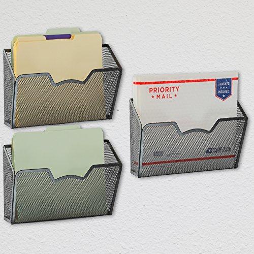 3 Pack Simplehouseware Wall Mount Single Pocket File
