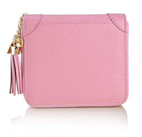 ff23655234f5 MaxGear Women's Credit Card Case Wallet 2 ID Window and Zipper Card ...