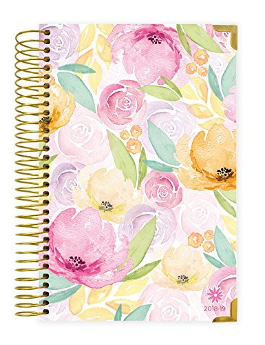 Monthly/Weekly Calendar Book – Watercolor Floral – July 2019
