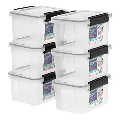 Ziploc Weathershield Storage Box 16 Quart Clear 4 Pack