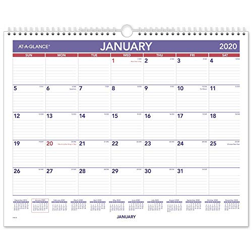 AT-A-GLANCE 2020-2021 Monthly Pocket Planner 2 Year, 3-1/2 ...