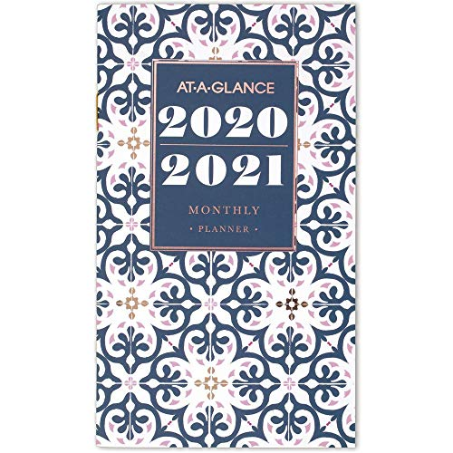 AT-A-GLANCE 2020-2021 Monthly Pocket Planner, 2 Year, 3-1 ...